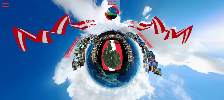 BEST OF AUSTRIA 360° Gigapixelbild - digitale Visitenkarte Österreichs